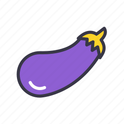 aubergine, brinjal, diet, eggplant, food, kitchen, vegetables icon