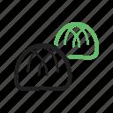 baked, bread, bun, buns, hamburger, round, small, tasty icon