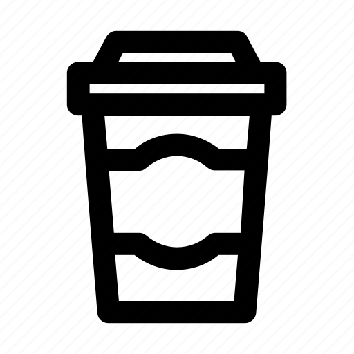 beverage, coffee, coffee cup, cup, drink, outline, plastic cup icon