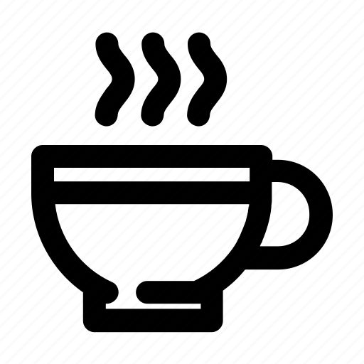 Bean, beverage, cafe, coffee, cup, drink, outline icon - Download on Iconfinder