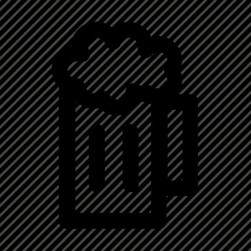 alcohol, bar, beer, beverage, drink, glass, outline icon