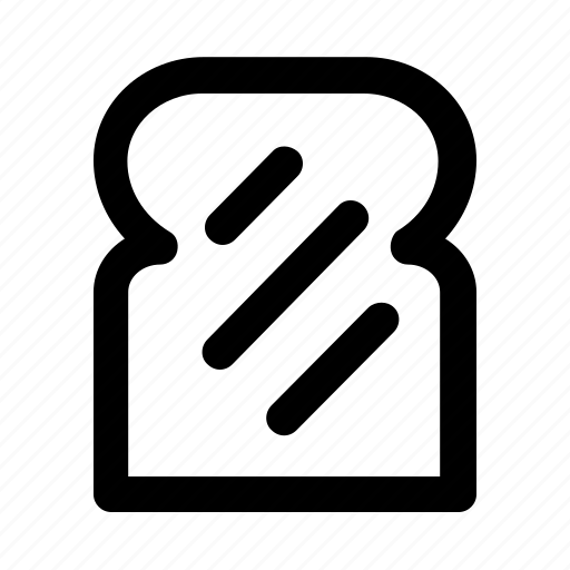 bakery, bread, food, fresh, healthy, outline, wheat icon