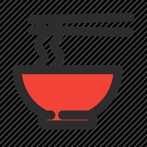 bowl, cuisine, filled, food, meal, noodle, ramen icon