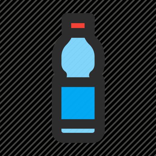 beverage, bottle, drink, filled, plastic, water icon