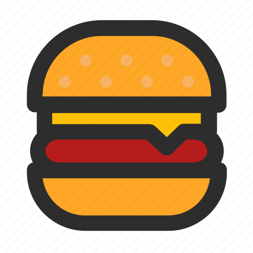 burger, fast food, filled, food, meal, meat, unhealthy icon