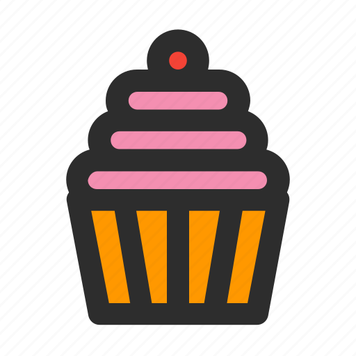 cake, cupcake, dessert, filled, food, party, sweet icon