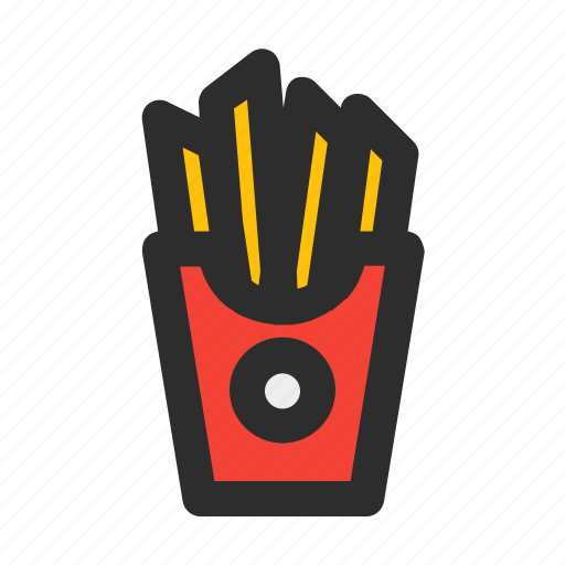 fast, filled, food, french, meal, potato, snack icon