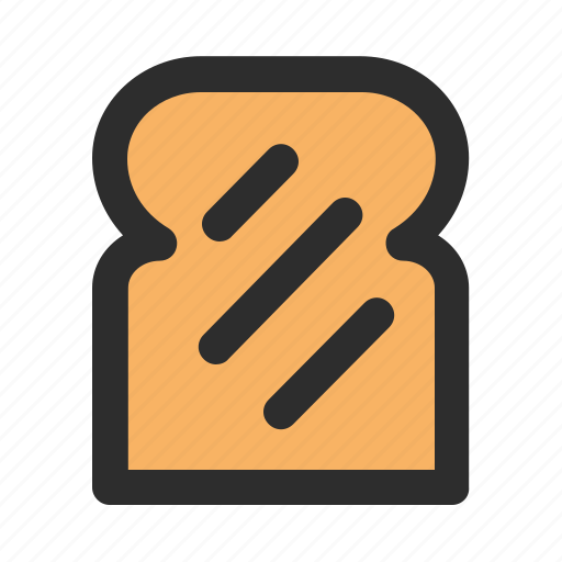 bakery, bread, filled, food, fresh, healthy, wheat icon