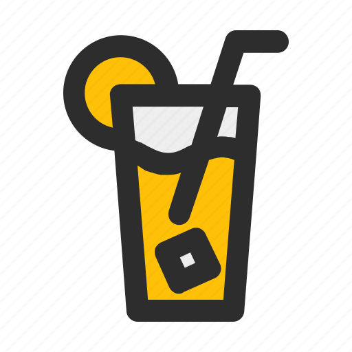 beverage, cold, drink, filled, fresh, juice, orange icon