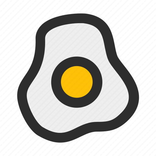 chicken, egg, filled, food, fried, meal, omelette icon