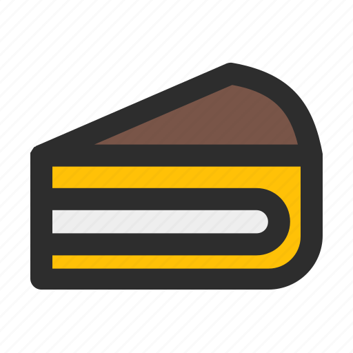 cake, dessert, filled, food, party, slice icon
