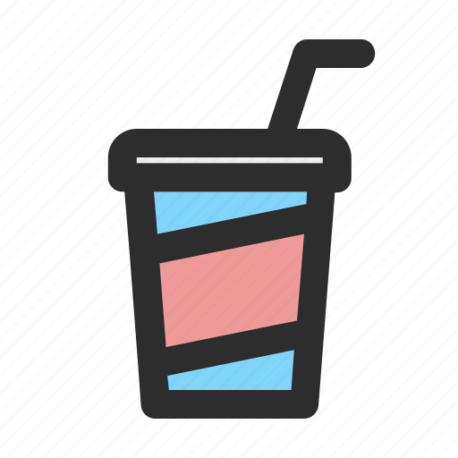 beverage, cup, drink, drinksoda, filled, plastic icon