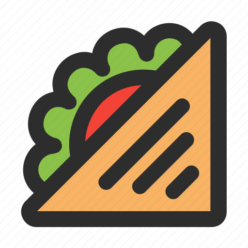 filled, food, healthy, meal, sandwich, vegetable icon