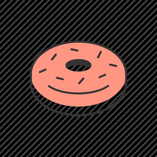 dessert, donut, doughnut, pastry, snack, sugar, sweet icon