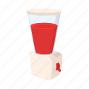 background, blender, cartoon, juice, juicing, machine, white icon