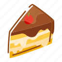 cooking, cake, fruit, food icon