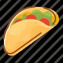 food, fruit, restaurant, taco, vegetable icon
