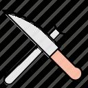 appliance, chef, fork, kitchen, knife, utensil
