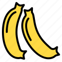 banana, delicious, egg, food, fruit, happy, vegetable icon