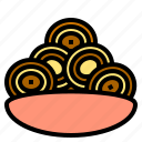 cookie, delicious, egg, food, fruit, happy, vegetable icon