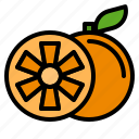 delicious, egg, food, fruit, happy, orange, vegetable icon