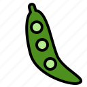 delicious, egg, food, fruit, happy, peas, vegetable icon