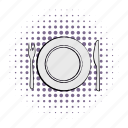 comics, cutlery, dishware, empty, knife, silverware, utensil icon