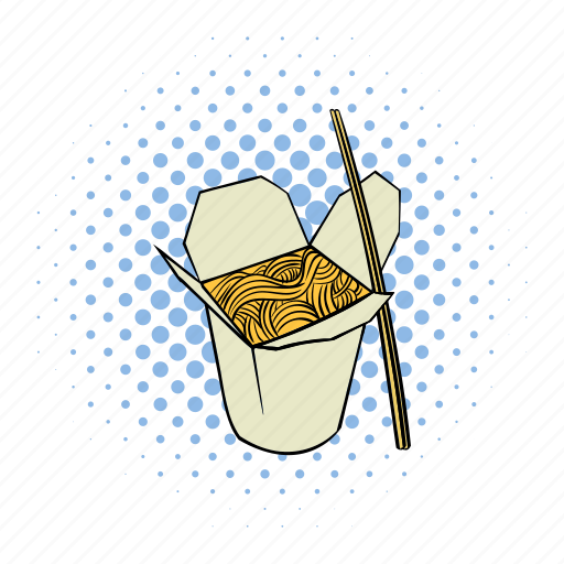 box, comics, food, lunch, meal, noodle, takeout icon