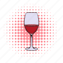 alcohol, celebration, comics, drink, glass, wine, wineglass icon