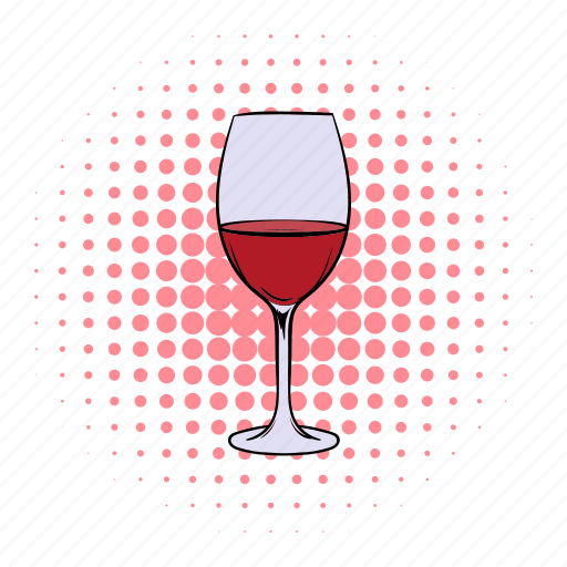alcohol, celebration, comics, drink, glass, wine, wineglass icon