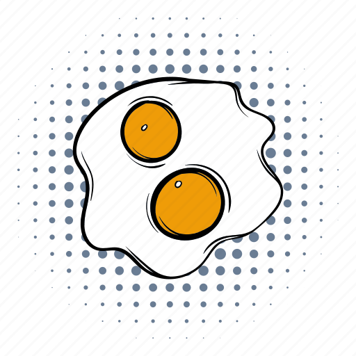breakfast, comics, cooking, egg, food, lunch, meal icon