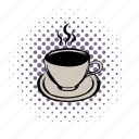 breakfast, brown, cafe, coffee, comics, cup, mug icon