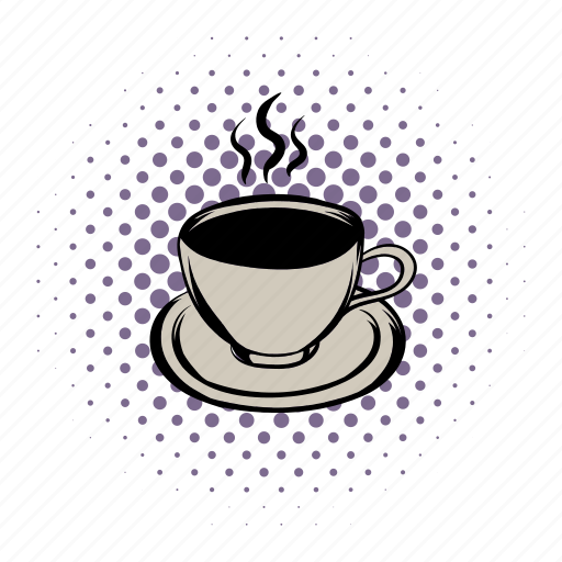 breakfast, brown, cafe, coffee, comics, cup, mug icon