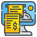 bill, computer, electronic, invoice, payment, receipt, ticket icon