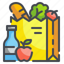 bag, delivery, food, grocery, shop, store, vegetable icon