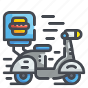 delivery, motorbike, motorcycle, scooter, transport, transportation