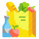 grocery, vegetable, delivery, bag, food, store, shop icon