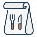 bag, food, fork, knife, order icon