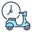 bike, courier, delivery, food, moped, order, shipping icon