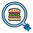 burger, delivery, find, food, order, search