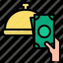 cash, money, order, food, delivery