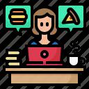 order, food, online, delivery, avatar