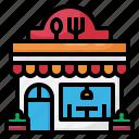 shop, store, food, restaurent, building