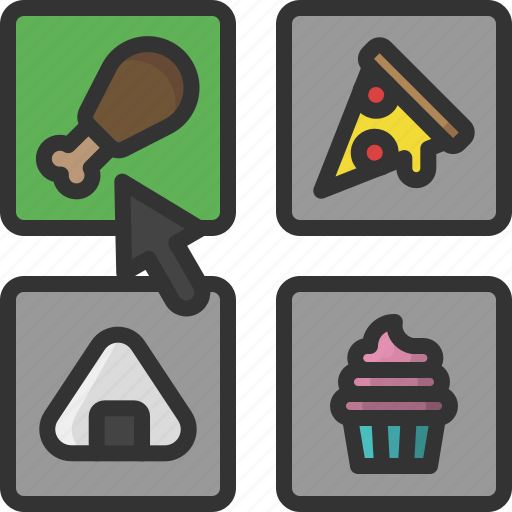 choice, food, food delivery, menu, selection, shipping, takeaway icon