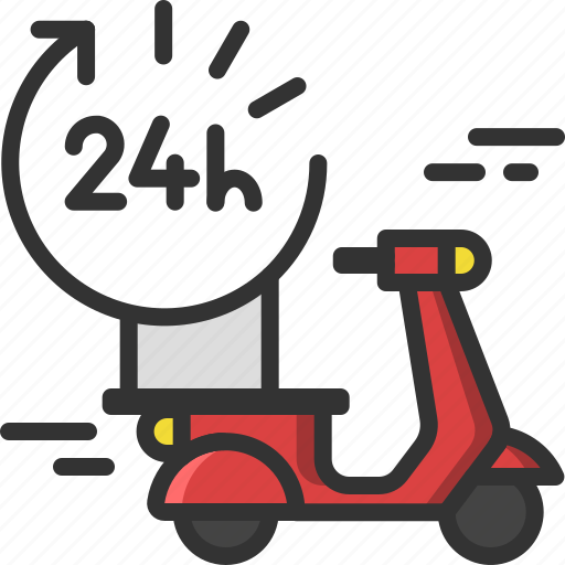 delivery, food, food delivery, scooter, shipping, takeaway, transport icon