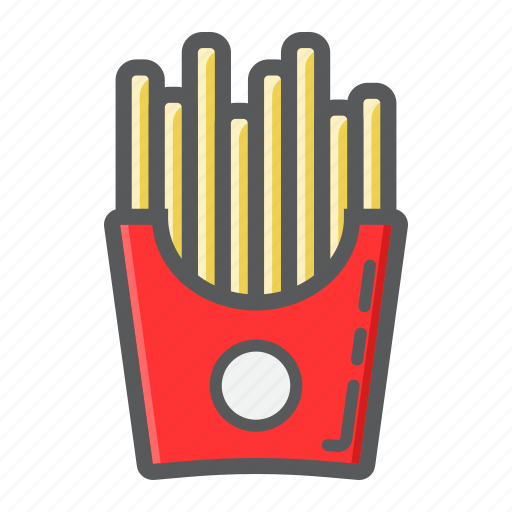 box, fast, food, french, fries, potato, snack icon