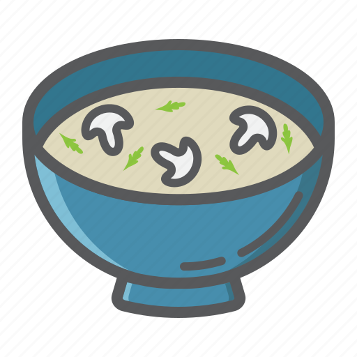 bowl, cook, dinner, food, mushroom, restaurant, soup icon