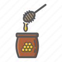 bee, beehive, food, healthy, honey, ladle, sweet icon