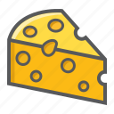 breakfast, chesse, diary, food, milk, parmesan, piece icon