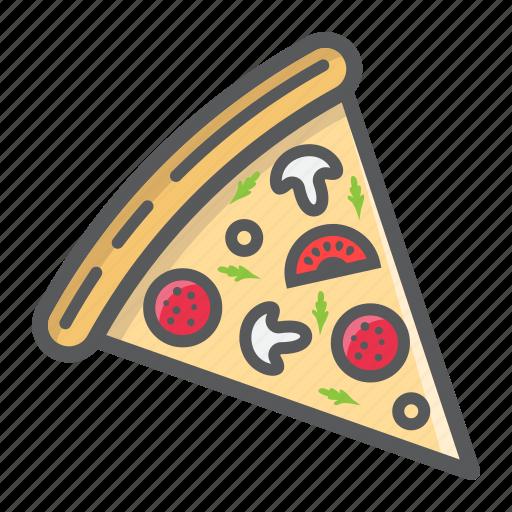 fast, food, italian, piece, pizza, restaurant, slice icon
